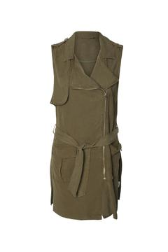 Shoptiques Product: Asymmetric Zip Vest