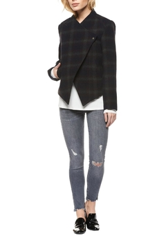 Shoptiques Product: Asymmetrical Plaid Jacket