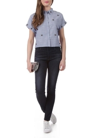 Dex Beaded Chambray Top - Product Mini Image