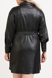 Dex Belted Leather Dress - Side cropped