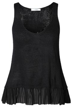 Shoptiques Product: Black Peplum Tank