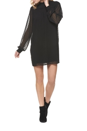 Dex Black Sleeve Dress - Product Mini Image