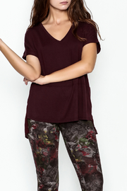 Dex/Black Tape V Neck Chiffon Top - Front cropped