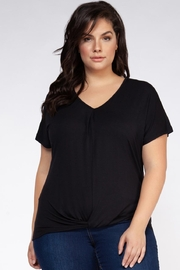Dex Black Tie-Waist Tee - Product Mini Image