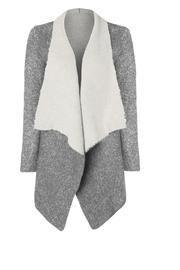 Dex/Black Tape Double Faced Cardigan - Front cropped