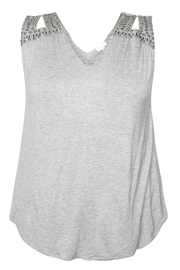 Dex/Black Tape Embellished Top Sleeveless - Front cropped