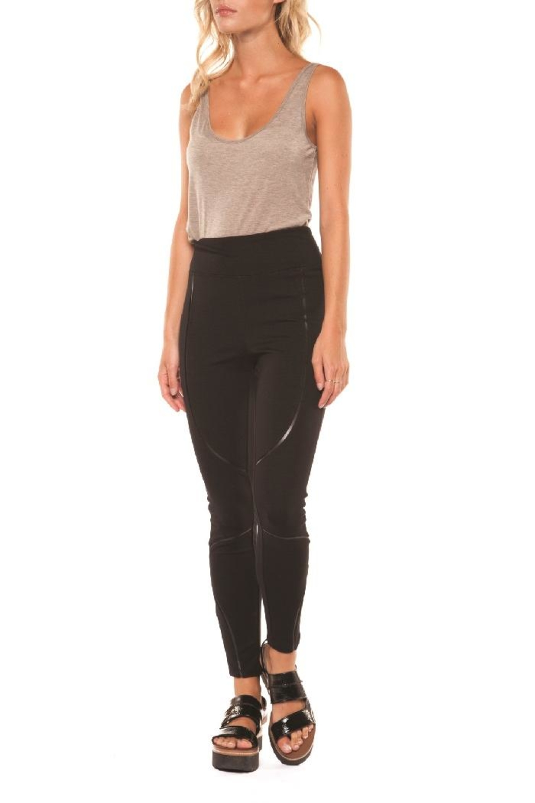 Dex/Black Tape Leggings W/inserts - Front Cropped Image