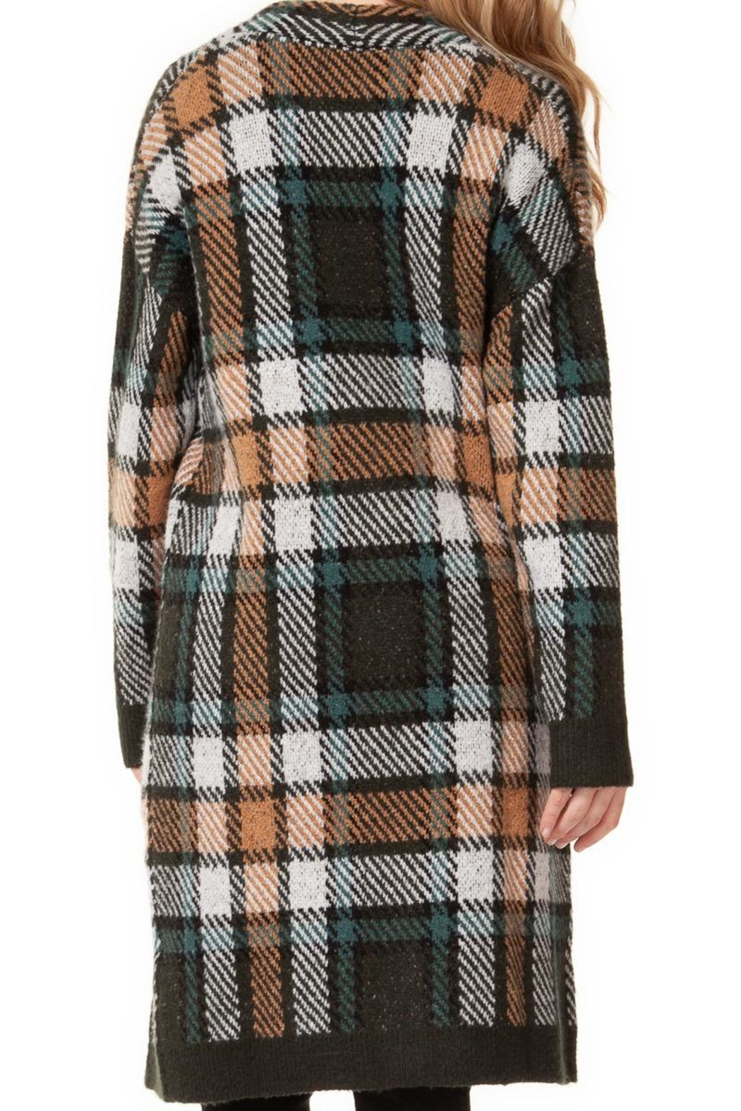 Dex/Black Tape Plaid Cozy Sweater - Front Cropped Image