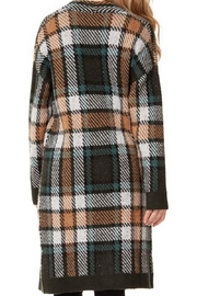 Dex/Black Tape Plaid Cozy Sweater - Front cropped