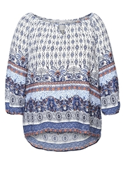 Dex/Black Tape Printed Boho Blouse - Front cropped