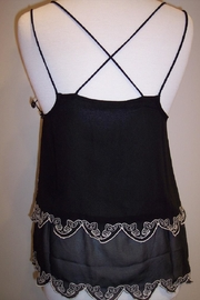 Dex/Black Tape Scalloped Cami - Front full body