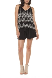 Dex/Black Tape Scalloped Cami - Front cropped