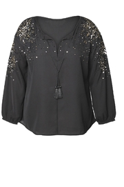 Dex/Black Tape Sequined Blouse - Front cropped