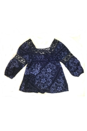 Dex Blue Batik Top - Product Mini Image