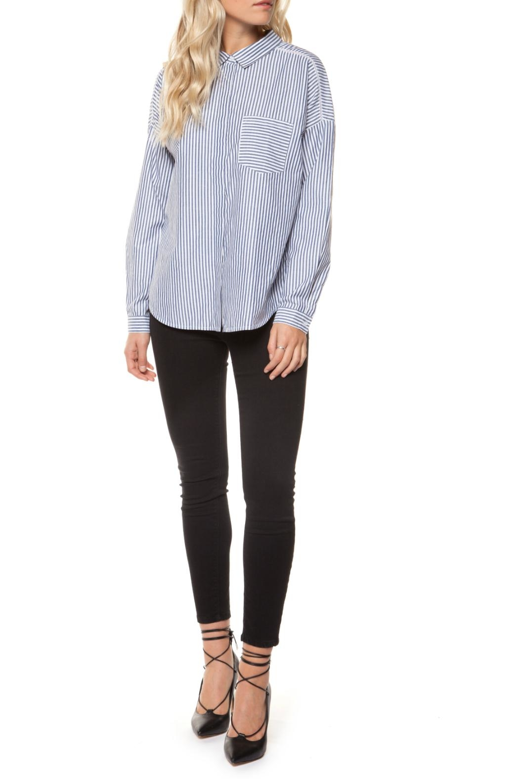 Dex Bow-Backed Blouse - Front Cropped Image