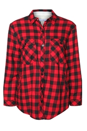 Dex Buffalo Check Fleecy Jacket - Front full body