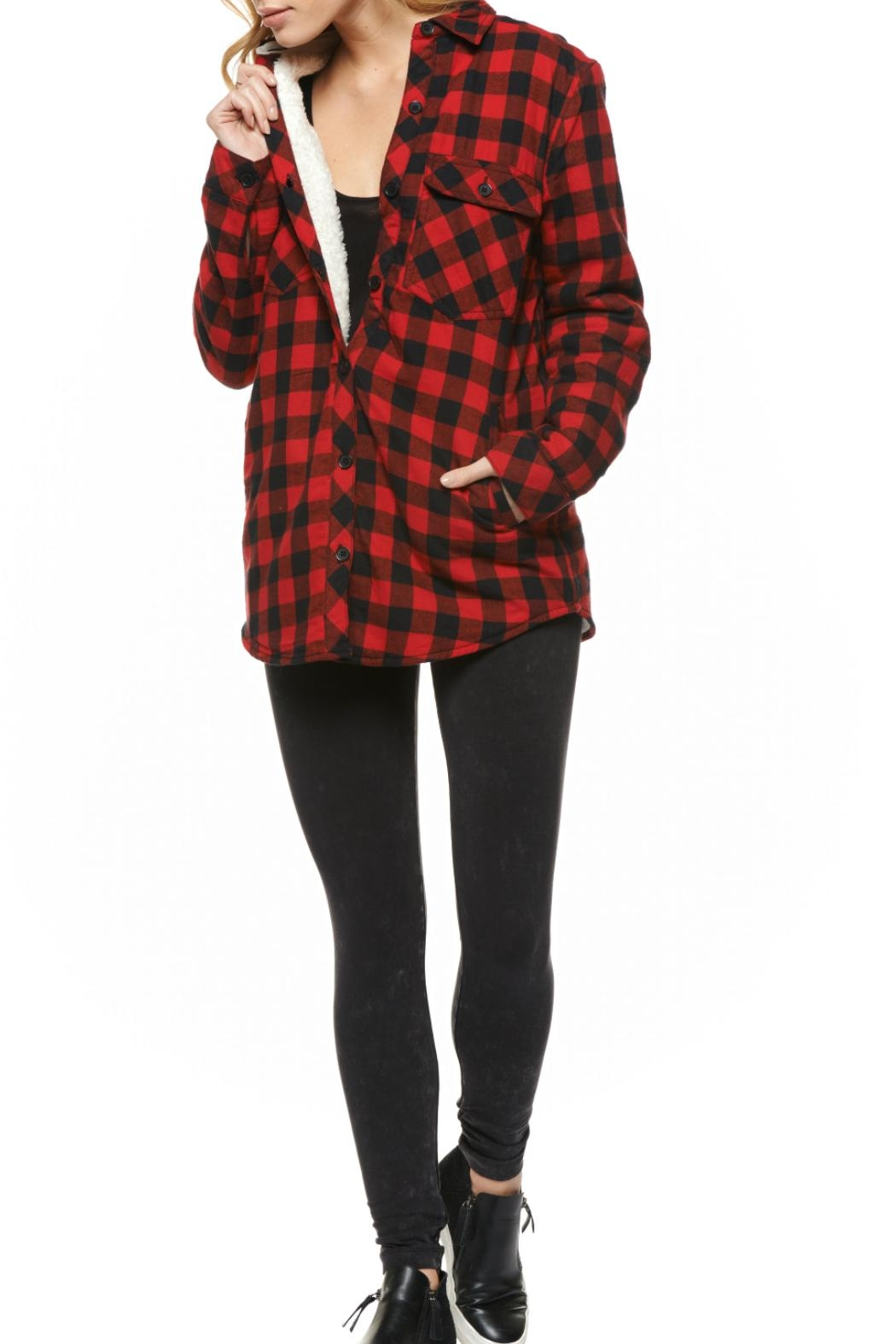 Dex Buffalo Check Fleecy Jacket - Front Cropped Image
