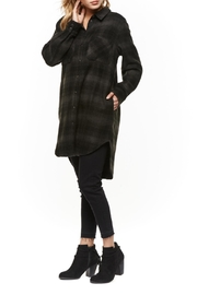 Dex Button-Down Plaid Tunic - Front cropped