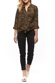 Dex Camo Button Up Top - Front cropped