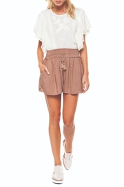 Dex Champagne Flowy Shorts - Product Mini Image