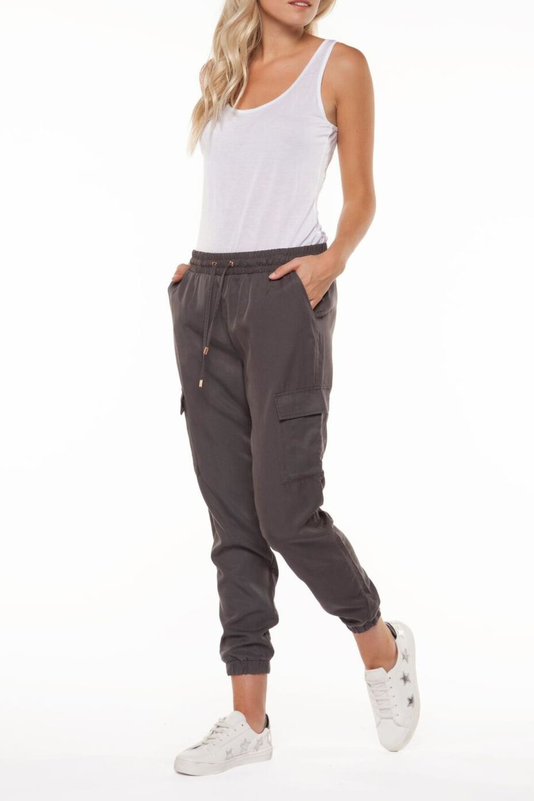 Dex Charcoal Cargo Pant - Front Full Image
