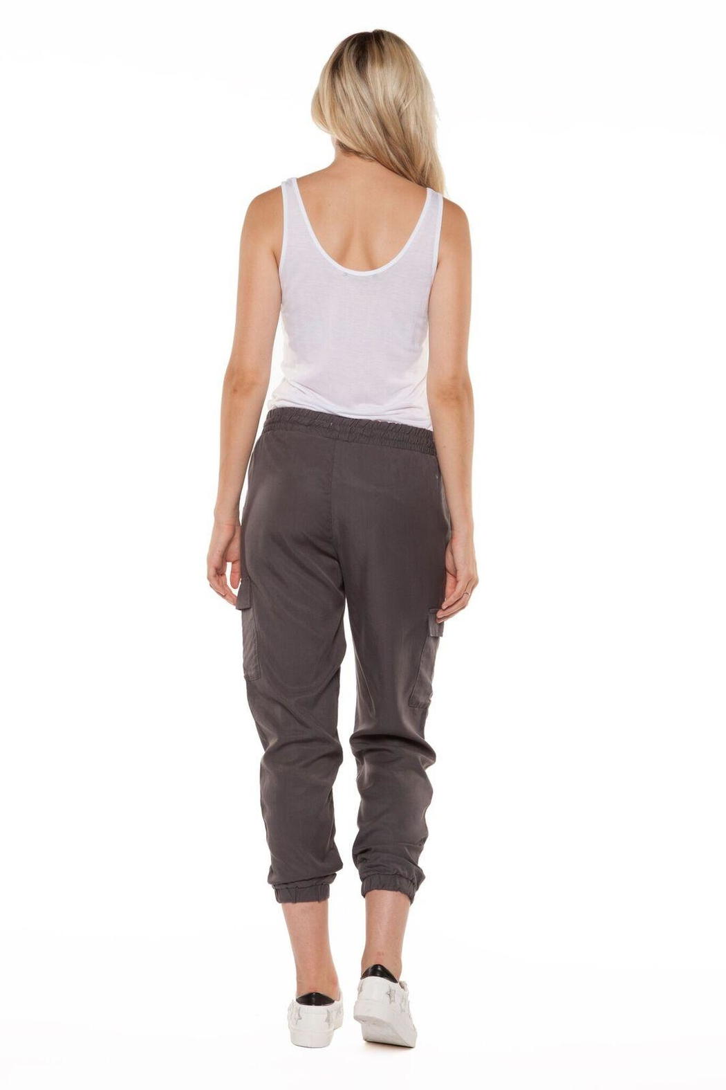 Dex Charcoal Cargo Pant - Side Cropped Image