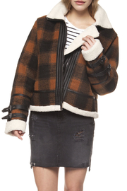 Dex Checkered Plaid Coat - Front cropped