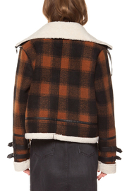 Dex Checkered Plaid Coat - Back cropped