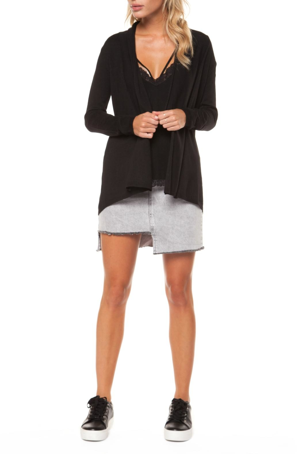 Dex Shawl Open Cardigan - Front Cropped Image