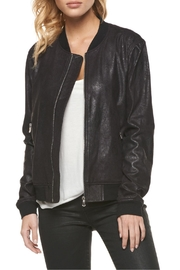 Dex Coated Suede Bomber - Front full body