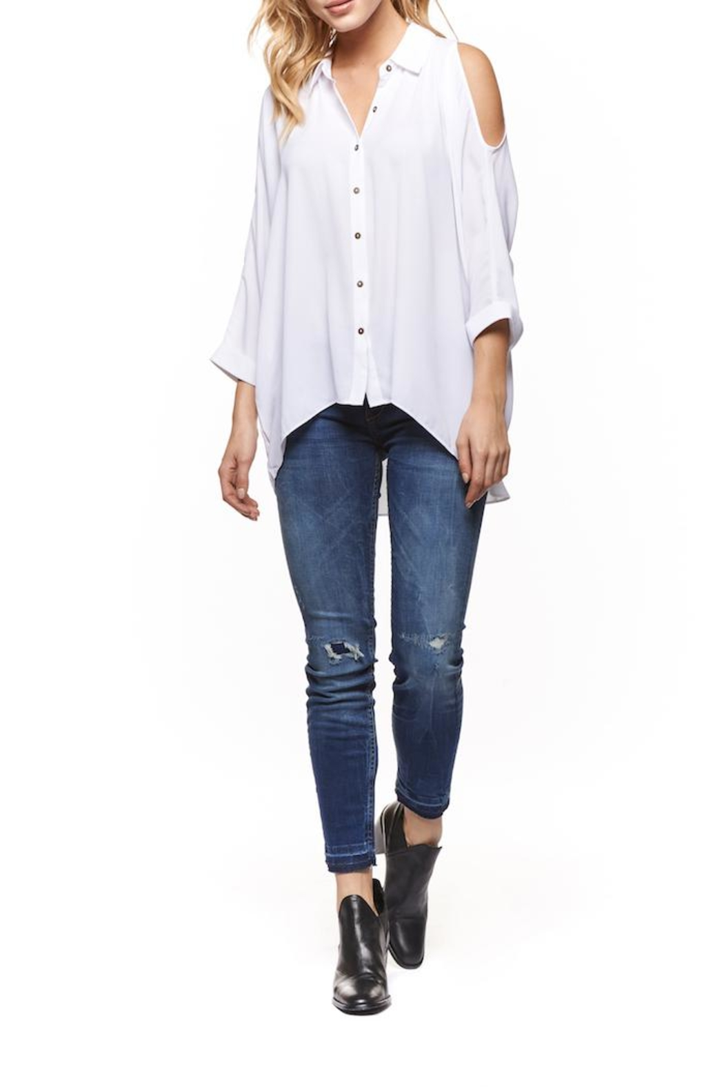 Dex Cold Shoulder Blouse - Main Image
