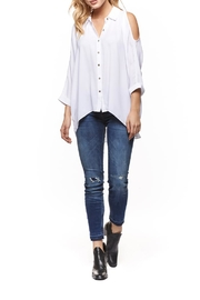 Dex Cold Shoulder Blouse - Front cropped