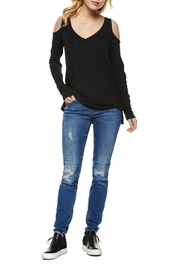 Dex Cold Shoulder Long Sleeve Top - Product Mini Image