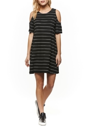 Dex Cold Shoulder Stripe Dress - Front cropped