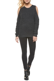 Dex Charcoal Cold Shoulder Sweater - Product Mini Image