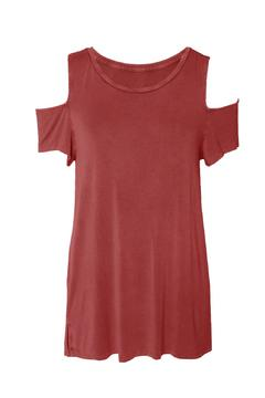 Shoptiques Product: Cold Shoulder Tee