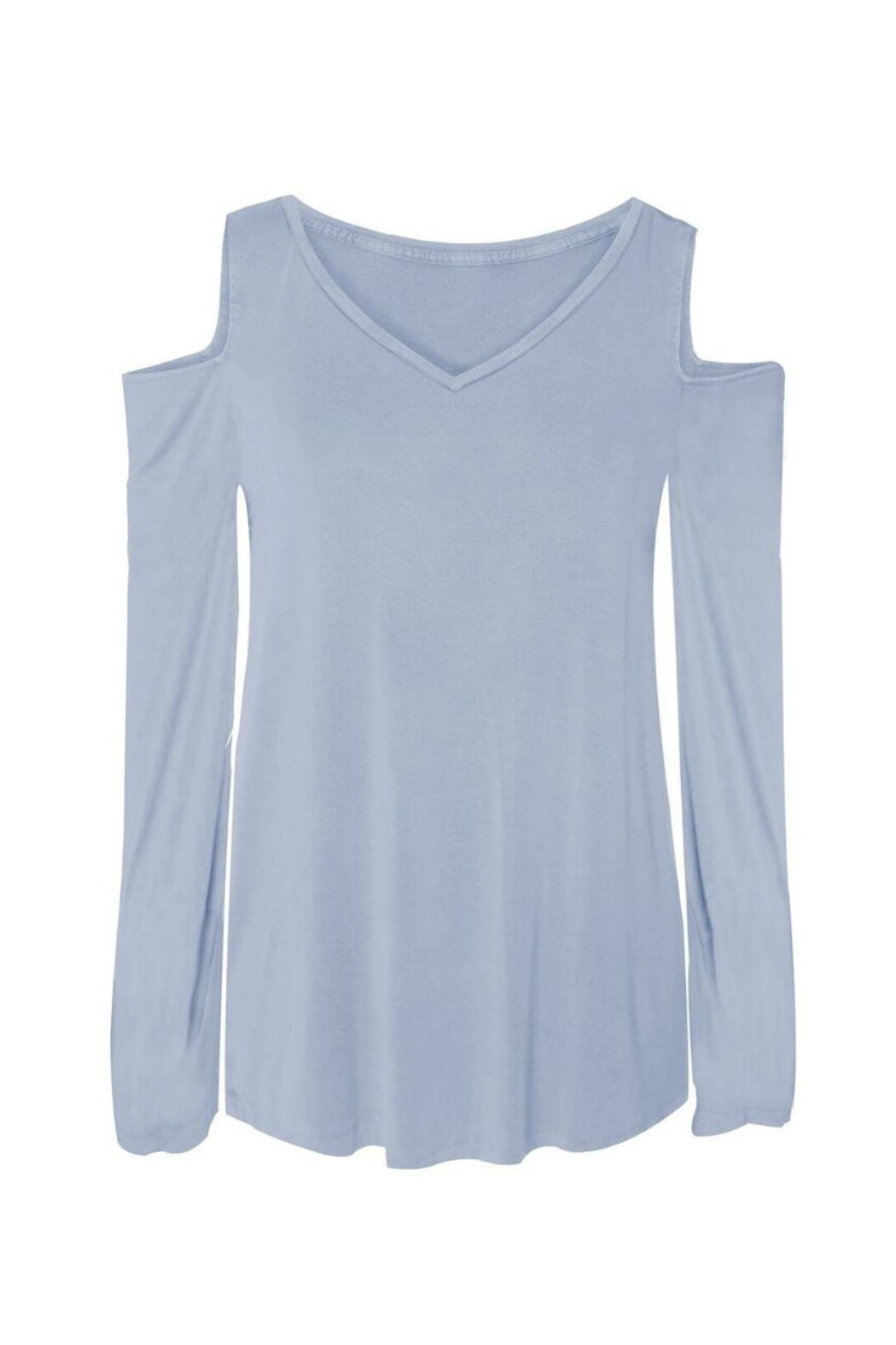 Dex Powder Blue Top - Front Full Image