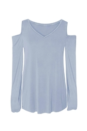 Dex Powder Blue Top - Front full body
