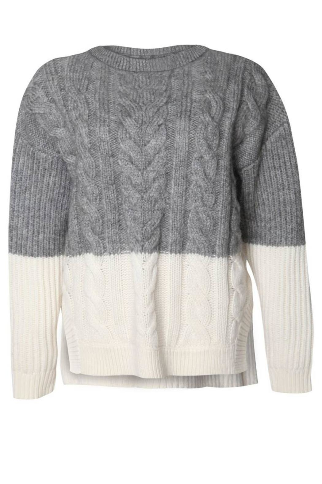 Dex Colorblock Cable-Knit Sweater from Florida by Dressing Room ...