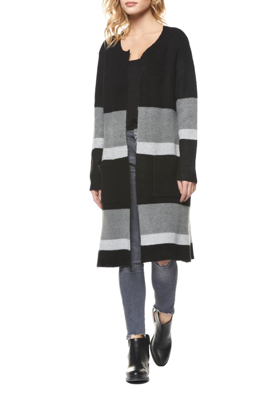 Dex Colorblocked Sweater Coat - Main Image