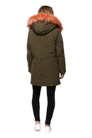 Dex Coral Fauxfur Parka - Front full body