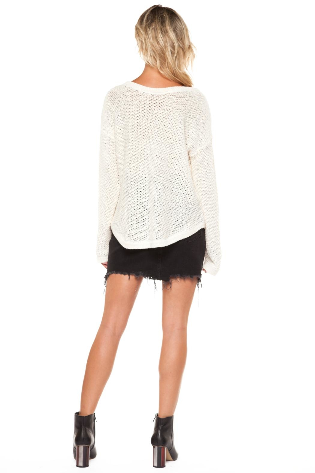 Dex Cotton Lace-Up Sweater - Front Full Image