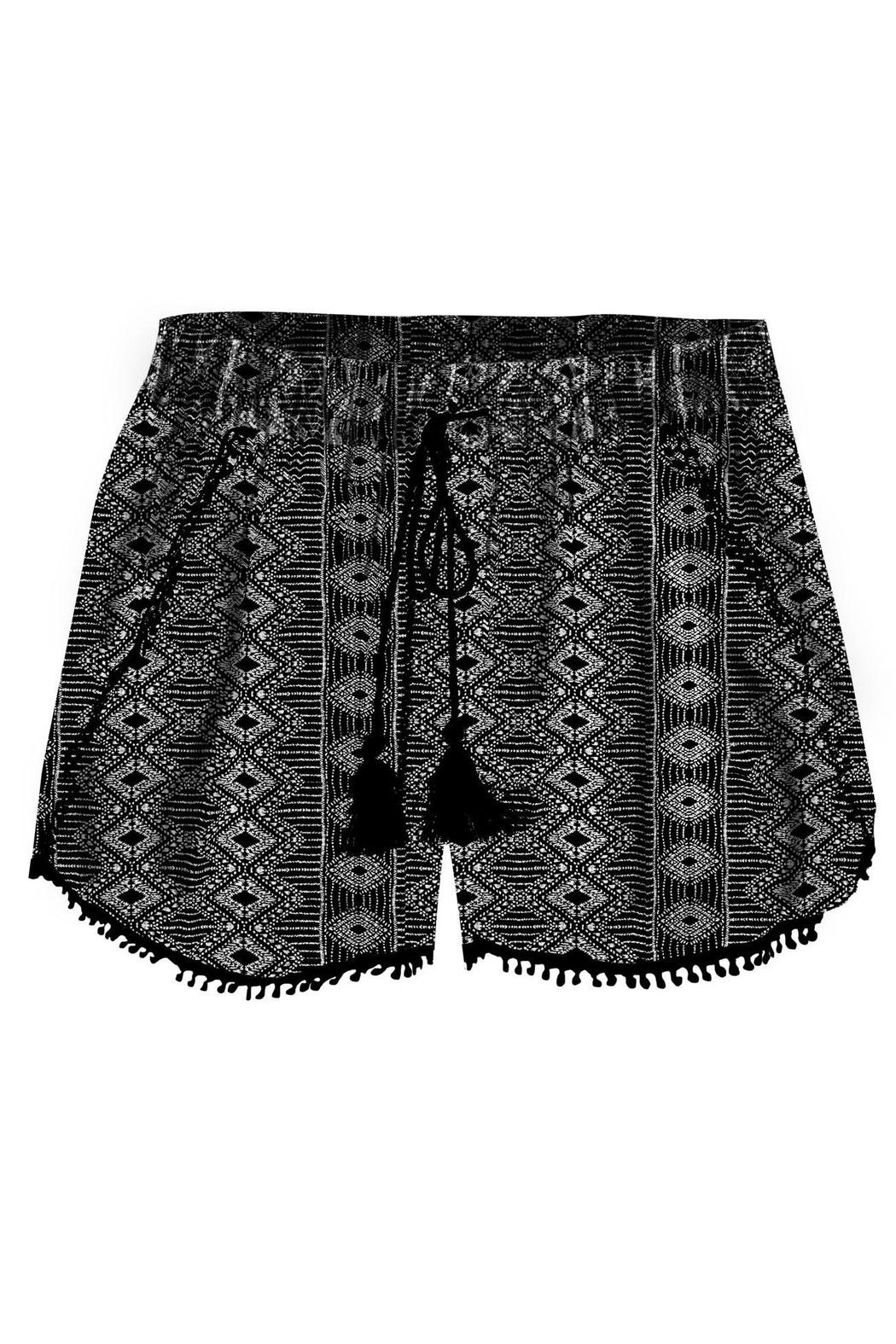 Dex Crochet Trim Shorts - Main Image