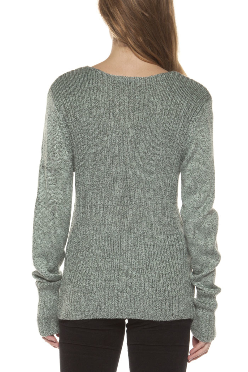 Dex Crossed Sweater Top - Back Cropped Image