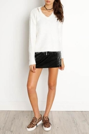 Dex Cut-Out V-Neck Sweater - Front full body