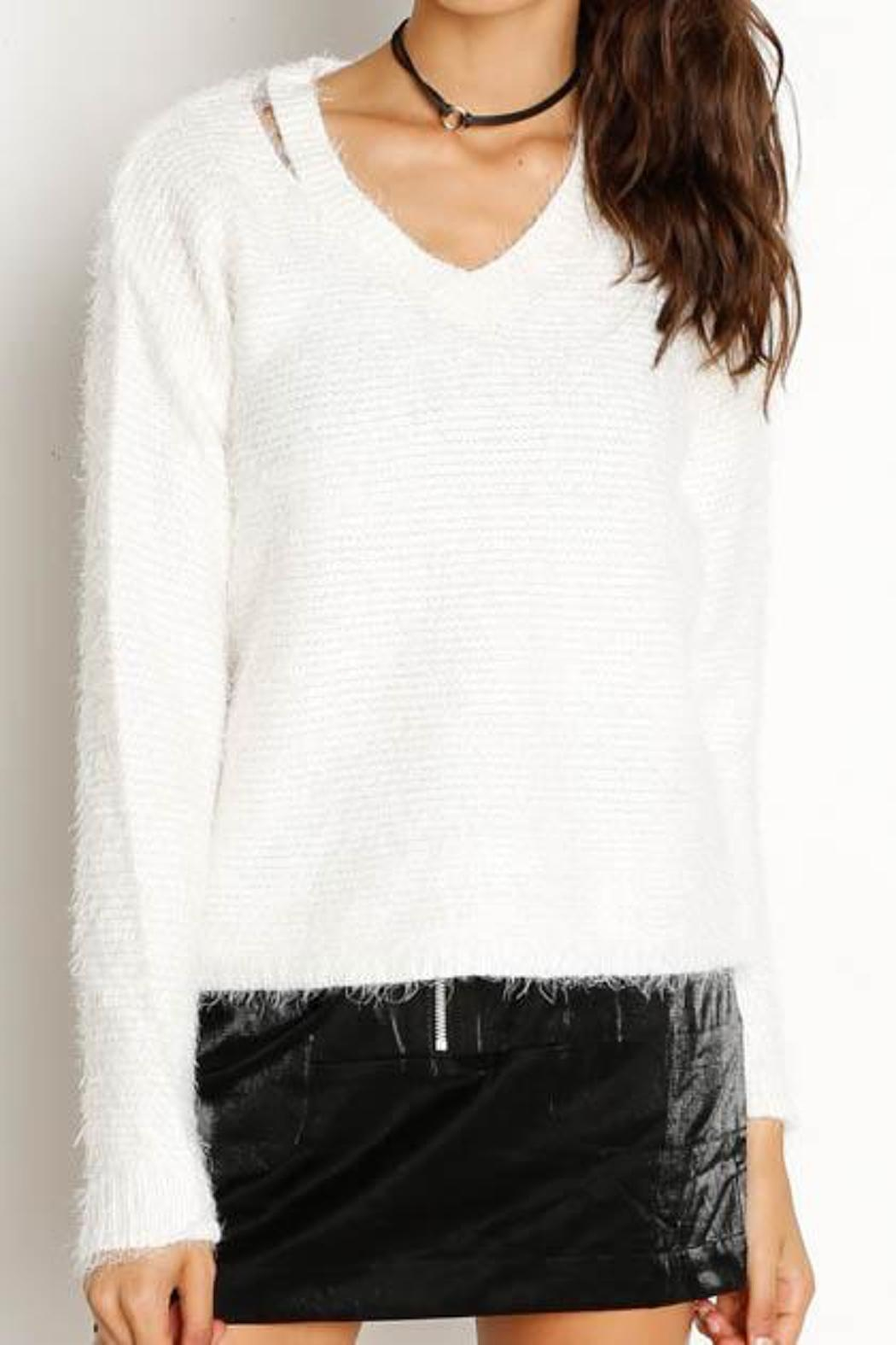 Dex Cut-Out V-Neck Sweater - Main Image