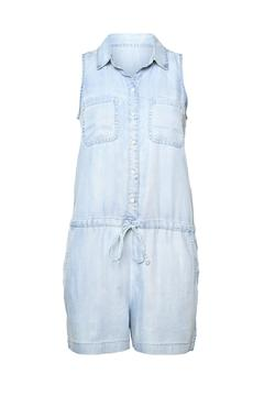 Shoptiques Product: Denim Sleeveless Romper