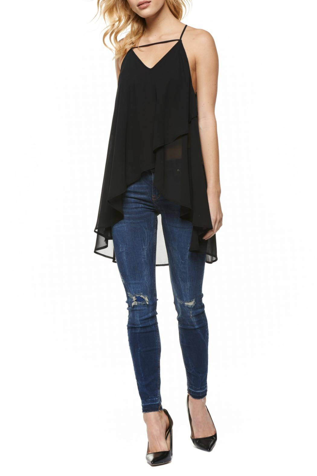 Dex Double Chiffon Top - Front Cropped Image