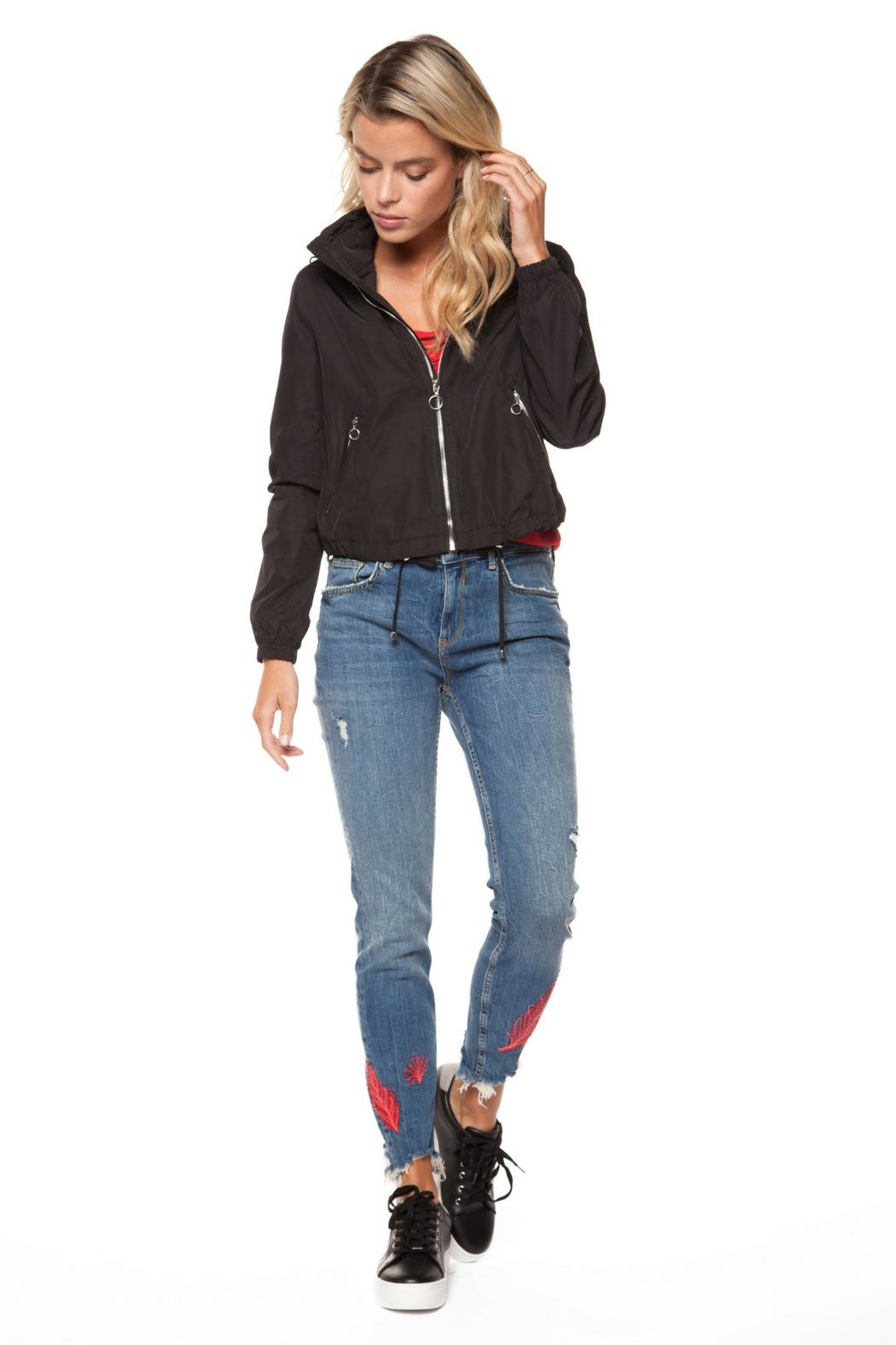 Dex Drawstring Zip-Up Jacket - Front Cropped Image