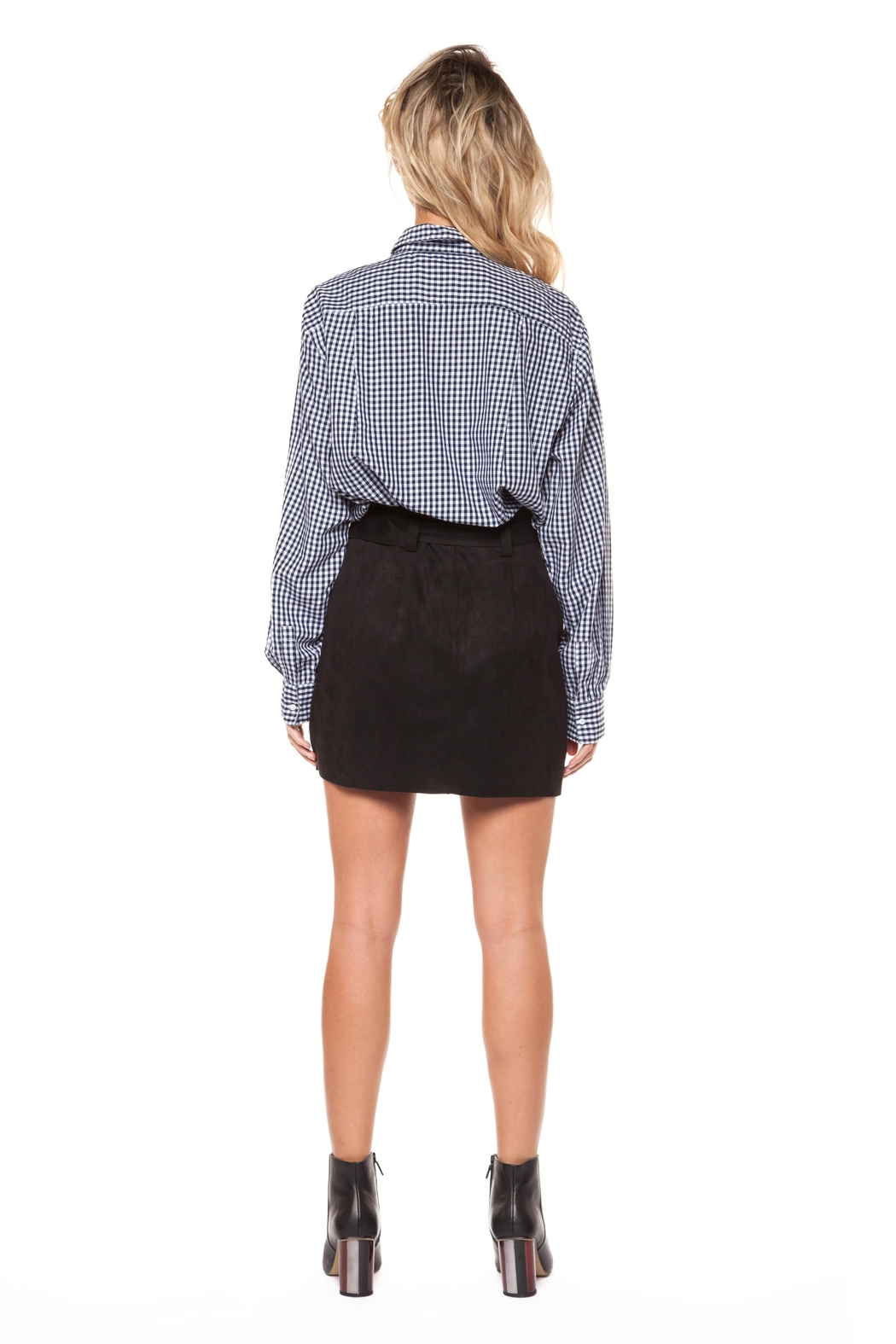 Dex Embroidered Check Blouse - Side Cropped Image